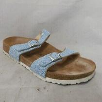 Birki's by Birkenstock Blue Beaded Sparkly Slide Sandals Sz 39 Eu / Men 6 Wmn 8 Photo