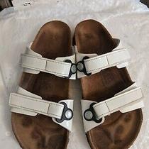 Birki's by Birkenstock Madura Double Strap White Patent Sandals Womens 30/8 N Photo