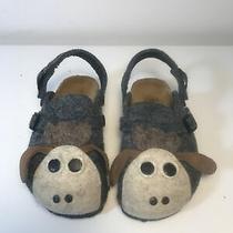 Birki's by Birkenstock Rare Girls Sz 27 Wool Lamb Gray Mules     B2 Photo