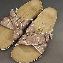 Birki's Skorpios Graffito Brown Leather Birkenstock Sandal Soft Footbed 48 15 Photo