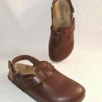 Birkis Birkenstock Brown Mule Sandal Clogs Ankle Strap Shoes Size 38/7  Photo