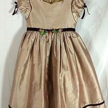 Biscotti Collection Boutique Blush Pink Mauve Dress 5 Velvet Trim Easter Photo