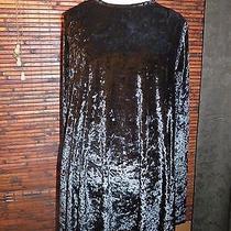 Bitching and Junk Food Urban Outfitters - Black Velour Ls Mini Dress (Sz l) Nwt Photo
