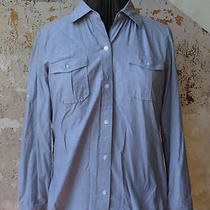 Bitten by Sarah Jessica Parker Sjp Gray Fitted Guide Top Button Down Womens Xl Photo
