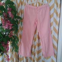 Bitten Sarah Jessica Parker Ladies Size L Peach Polka Dot Pajama Pants Photo