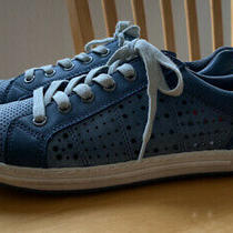 Biza Hobo Horizon Sneakers in Denim Blue Pre-Owned Size 38 Removable Insoles Photo