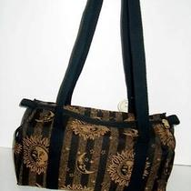 Bj Designs for Burton Golf Shoulder Bag Black and Tan Sun Design Photo