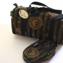Bj Designs for Burton Golf Shoulder Bag Black/tan W/ Matching Small Clip-on Bag Photo