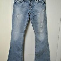 Bke 1967 Element 29 X 32 Flare Bootcut Womens Blue Jeans Distressed Photo