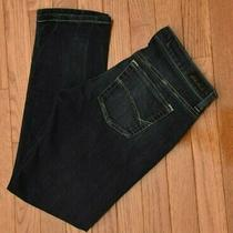 Bke Reserve Women's Crop Jeans Addison Skinny Fit Dark Wash Size 26 Photo
