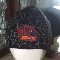 Black Acrylic Spiderman Skull Cap by Marvel One-Size Photo