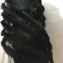 Black Acrylic Wrap Scarf 65 by 21  No Brand Photo