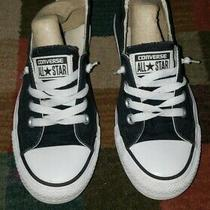 Black All Star Converse Tennis Shoesslip on Women's Size 6 Photo
