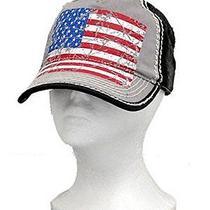 Black American Flag Vintage Hat  Photo