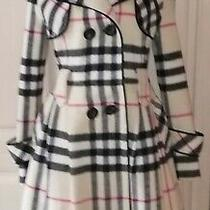 Black and Biege Plaid Wool Coat by Burberry Photo