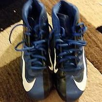 Black and Blue Nike Cleats Photo