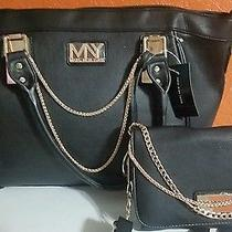 Black and Gold Marc New York Cross Body Tote and Mini Shoulder Bag. Set of 2 Photo