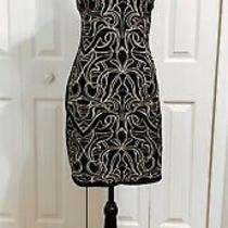 Black and Gold Maze Sheath Dress by Parker Photo