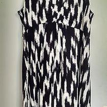 Black and White St. John's Bay Petite Medium Dress Photo