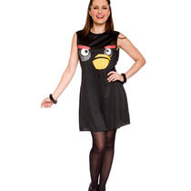Black Angry Birds Women Costume Tank Fancy Dress Small 4-6 Halloween Game App Photo