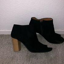 Black Ankle Booties With Tan Heel Size 8 Photo