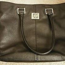Black Anne Klein Computer Bag Shoulder Tote Purse Handbag Photo