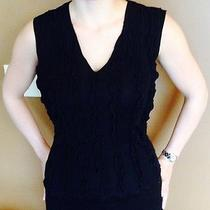 Black Armani v-Neck Dress Top Photo