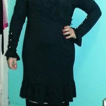 Black Avon Formal Dress With Ruffles Photo