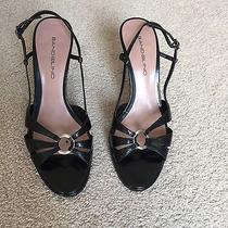 Black Bandolino Strappy Black Slingback Heels 7 Photo
