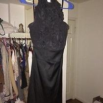 Black Bcbg Ruffled Formal Dress Size 4 Photo