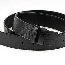 Black Belt Strap Mens Belts 34 Mm Bally Buckles Calfskin Italian Leather 34