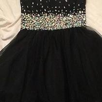 Black Blush Prom Homecoming Dress Size 8  Photo
