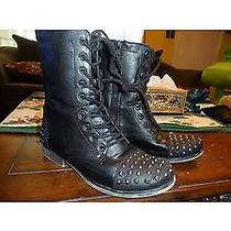 Black Boots With Metal 7  Photo