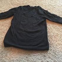 Black Cable Knit Sweater Xl Photo
