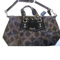 Black Coach Ashley Opt Art Satchel  Photo