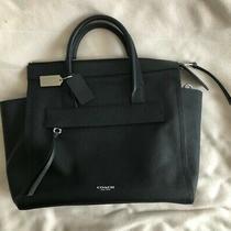 Black Coach Leather Purse Tote Handbag Crossbody New With Tags Bag Box Strap Photo