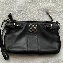Black Coach Leather Wristlet Photo