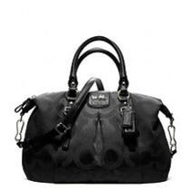 Black Coach Madison Art Sateen Juliet Signature Medium Satchel Barely Used 298 Photo