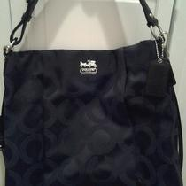 Black Coach Madison Op Art Hobo Handbag Photo