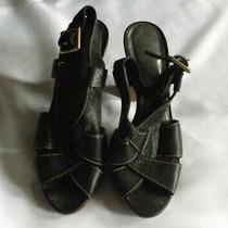 Black Coach Open Toe Slingback Sandals Shoes Size 5.5 B  Photo