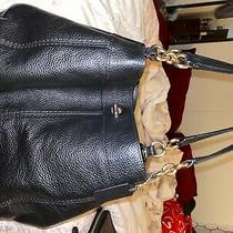 Black Coach Purse Leather Medium Photo