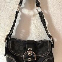 Black Coach Purse Shoulder Bag Magnetic Snap Closure Photo