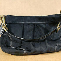 Black Coach Soho Bag H0894-12918 Black Leather With Gold Hardware Purse Photo