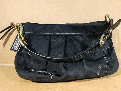 Black Coach Soho Bag H0894-12918 Black Leather with Gold Hardware Purse Photo