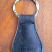 Black Coach Teardrop Key Ring Keychain Solid Photo