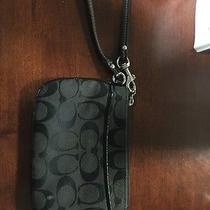 Black Coach Wristlet Wallet Photo