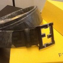 Black College Logo Fendi Belt Size 34-38 Photo