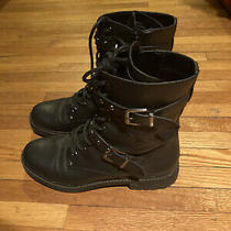 Black Combat Boots Guess Size 8 Never Worn Photo