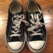 Black Converse Low Tops Size 3 Photo