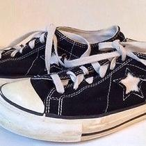 Black Converse One Star Low Top Womens 7.5 Sneakers Vguc Photo